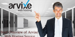 Brief Overview of Arvixe Web Hosting Service
